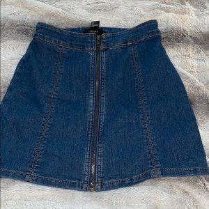Forever 21 Denim Zip-Up Skirt